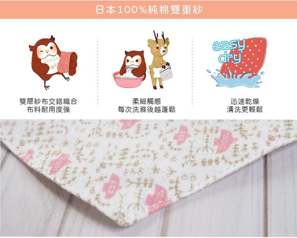 【兒童版9x14cm】日本純棉布∥兒童雙折口罩外套│兩用口罩│可當一般口罩│可替換清洗((附彈力繩)