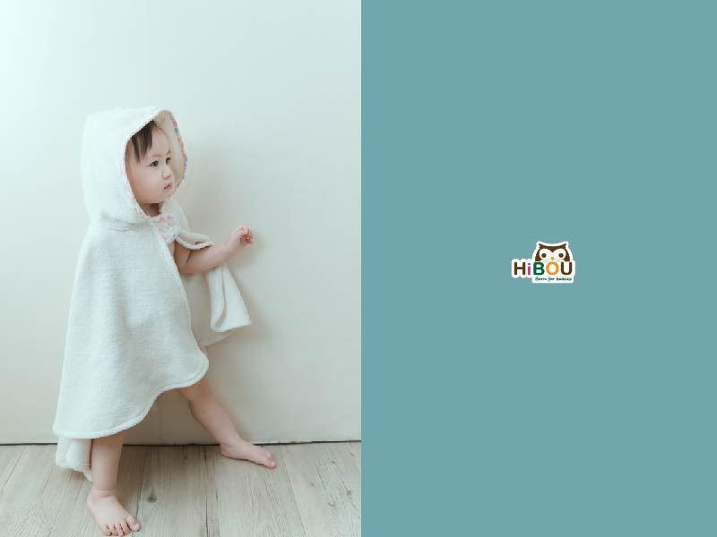 小斗篷連帽浴巾│喜福快乾超吸水嬰兒浴巾