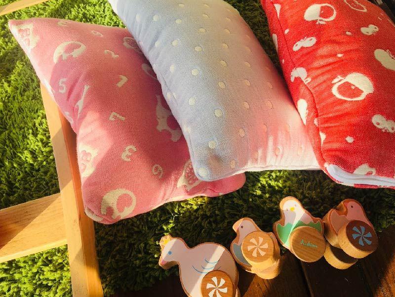 hibou兒童午睡枕六重紗喜福